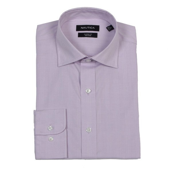 Nautica men 39 s light purple non iron dress shirt free Light purple dress shirt men