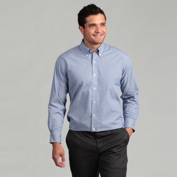 Nautica Men's Non-iron Royal Blue Dress Shirt