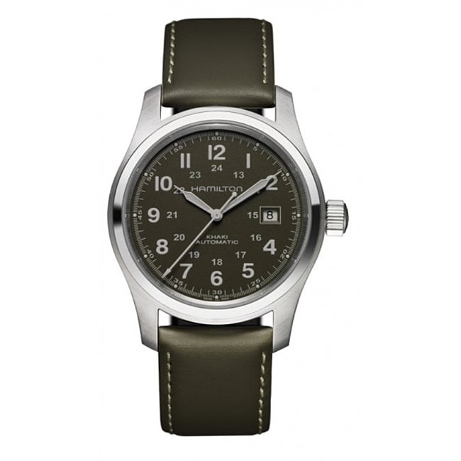 Hamilton Men's Khaki Field Black Automatic Dial Watch
