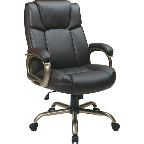 Executive Big Man's Espresso Bonded Leather Chair
