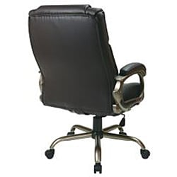 Office Star Executive Big Mans Espresso Eco Leather Chair Free