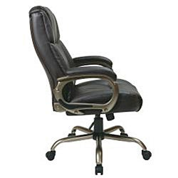 Office Star Executive Big Man's Espresso Eco Leather Chair - Thumbnail 2