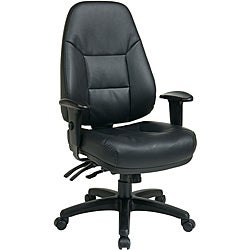 Office Star Executive Multi-function Ergonomic High-back Eco Leather Chair