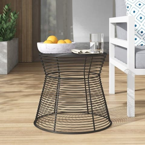 Indoor Outdoor Metal Side Table or Stool