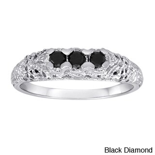 Sterling Silver 1/4ct TDW Diamond 3-stone Ring (I2-I3)