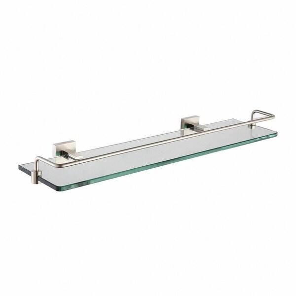 KRAUS Aura Bathroom Shelf with Railing in Brushed Nickel. Opens flyout.