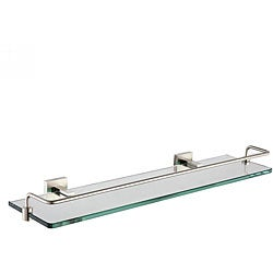 KRAUS Bathroom Accessories - Shelf with Railing in Brushed Nickel