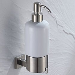KRAUS Bathroom Accessories - Wall-Mounted Ceramic Lotion Dispenser in Brushed Nickel