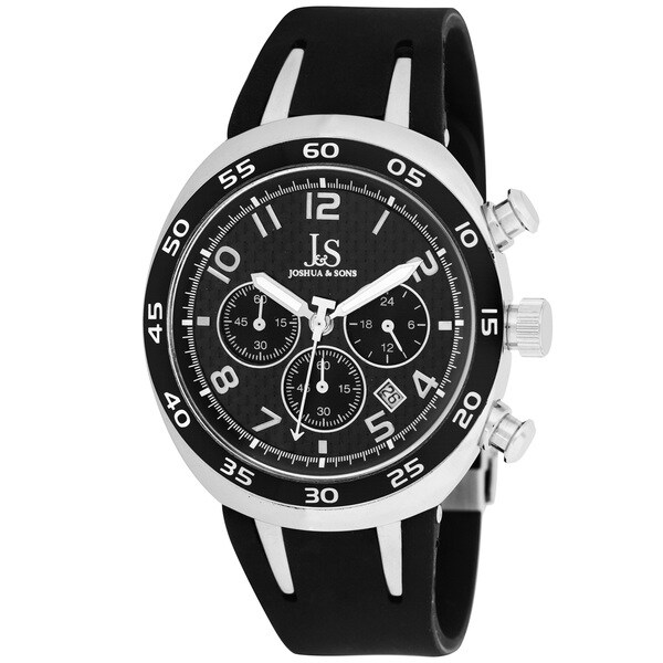 Joshua & Sons Men's Black Chronograph Watch