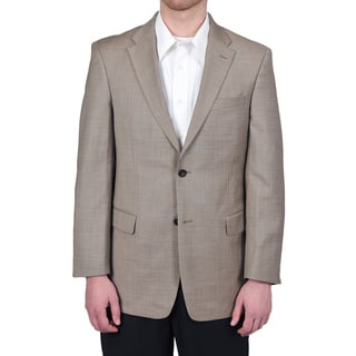 Tommy Hilfiger Men's Trim Fit Tan Sharkskin Suit Jacket (Option: 41r)