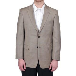 Tommy Hilfiger Men's Trim Fit Tan Sharkskin Suit Jacket