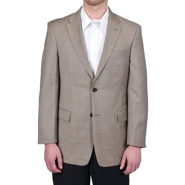 Tommy Hilfiger Men's Trim Fit Tan Sharkskin Suit Jacket - Free ...