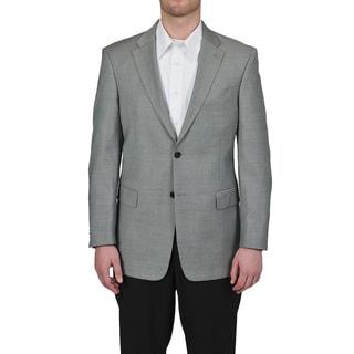 Tommy Hilfiger Men's Trim Fit Gray Sharkskin Suit Jacket