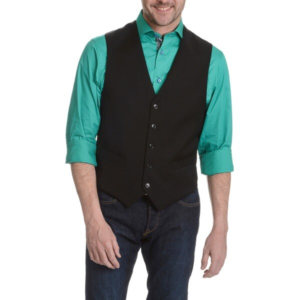 Tommy Hilfiger Men's Black Six-button Vest