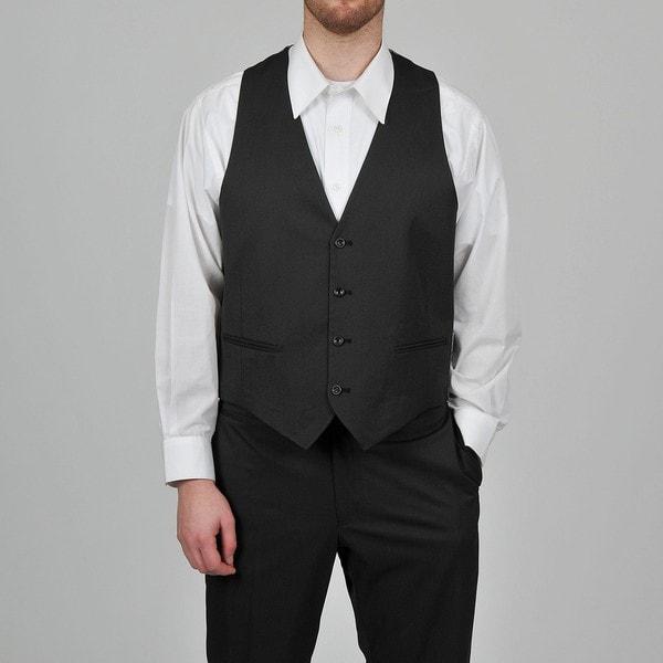 Marc Ecko Men's Black Pindot Vest