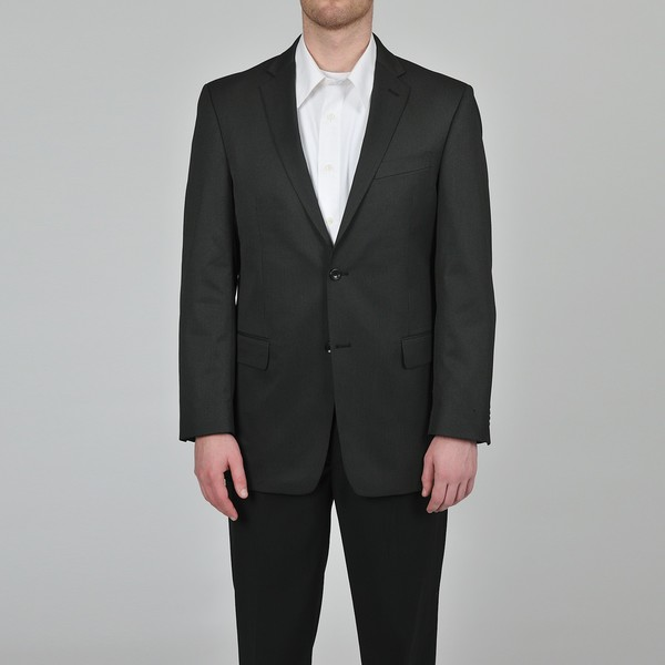 Marc Ecko Men's Trim Fit Black Pindot Suit Jacket