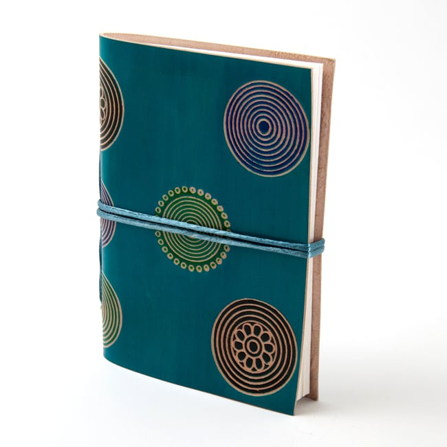 Concentric Circles Cruelty-free Leather Journal (India)