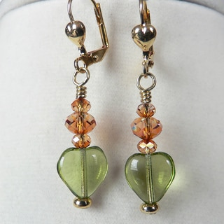 'Olivia' Heart Earrings