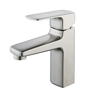 KRAUS Virtus Single Hole Single-Handle Vessel Bathroom Faucet in Brushed Nickel