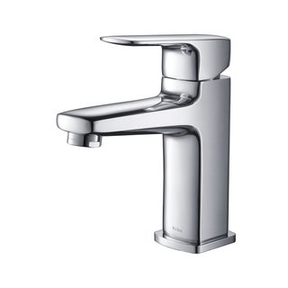 KRAUS Virtus Single Hole Single-Handle Vessel Bathroom Faucet in Chrome