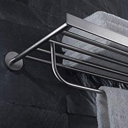 KRAUS Bathroom Accessories - Bath Towel Rack with Towel Bar in Brushed Nickel - Thumbnail 2