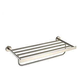 KRAUS Bathroom Accessories - Bath Towel Rack with Towel Bar in Brushed Nickel