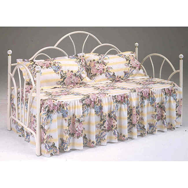 half off d3682 fa3e1 Bernards Antique White Day Bed Frame - Headboard and Sides