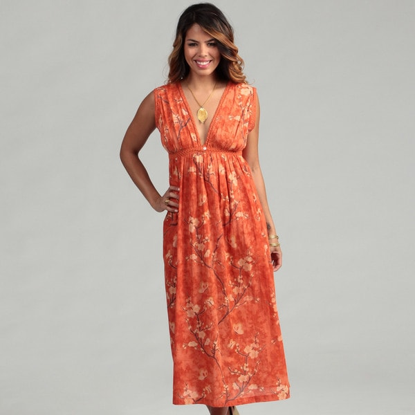 Sakura Women's Tangerine Cotton Voile Nighty (India)
