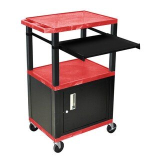 H.Wilson 42 inch Heigh Red Open Shelf Presentation Stand