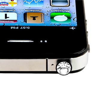 INSTEN Clear Diamond Headset Dust Cap for Apple iPhone 4S/ 5S/ 6