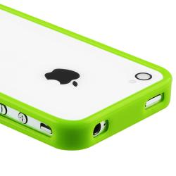 INSTEN Green Shiny Bumper TPU Rubber Skin Phone Case Cover for Apple iPhone 4/ 4S - Thumbnail 2