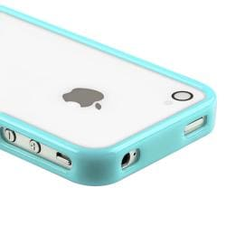 Blue Shiny Bumper TPU Rubber Skin Case  for Apple iPhone 4/ 4S - Thumbnail 1