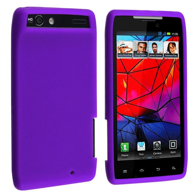 Purple Silicone Skin Case for Motorola Droid RAZR XT910