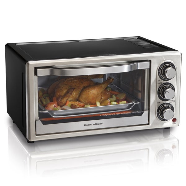 T Fal Convection Cooker Toaster Oven W Broiler: Shop Hamilton Beach Black Convection 6-slice Toaster Oven