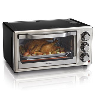 Hamilton Beach Black Stainless STeel Convection 6-slice Toaster Oven with Broiler