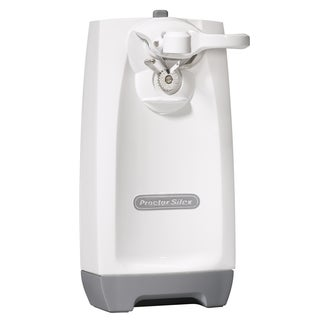 Proctor Silex White Extra-Tall Can Opener with Knife Sharpener