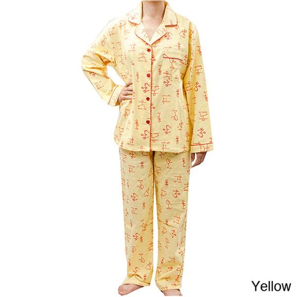 Leisureland Women's Yoga Print Pajama Set