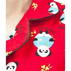 Leisureland Women's Panda Print Pajama Set - Thumbnail 2
