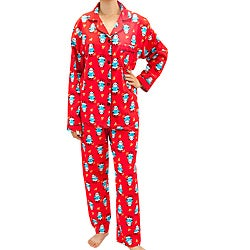 Leisureland Women's Panda Print Pajama Set