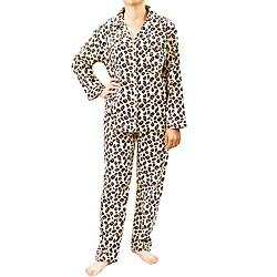 Leisureland Women's Wild Leopard Print Pajamas Set