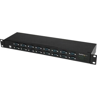 StarTech.com 16 Port Rackmount FTDI USB to Serial COM Adapter Hub - R