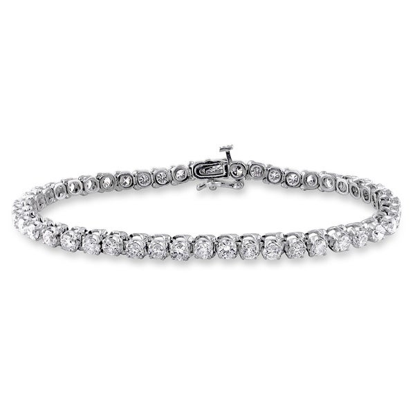 Miadora Signature Collection 14k Gold 6ct TDW Diamond Tennis Bracelet (G-H, I1-I2)