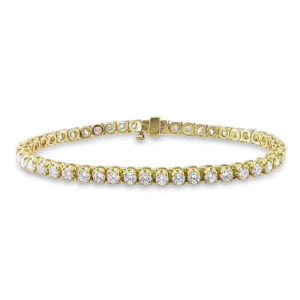 Miadora Signature Collection 14k Gold 6ct TDW Diamond Tennis Bracelet