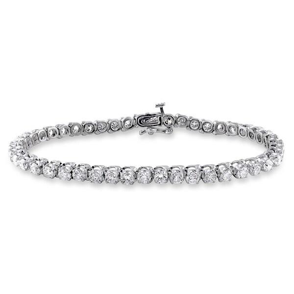 Miadora Signature Collection 14k Gold 6ct TDW Diamond Tennis Bracelet (G-H, I1-I2)