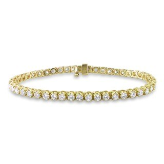 Miadora Signature Collection 14k Gold 6ct TDW Diamond Tennis Bracelet