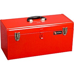 Excel 20-Inch Portable Steel Tool Box - Free Shipping On Orders ...