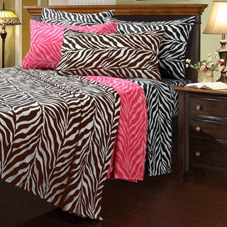 Zebra Microfiber Full-size Sheet Set