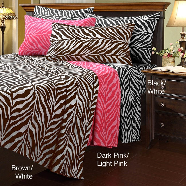 Zebra Microfiber Twin-size Sheet Set