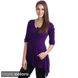24/7 Comfort Apparel Women's One Pocket Tunic Top|https://ak1.ostkcdn.com/images/products/6475185/24-7-Comfort-Apparel-Womens-One-Pocket-Tunic-Top-P14069785R.jpg?impolicy=medium