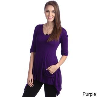 24/7 Comfort Apparel Women's One Pocket Tunic Top